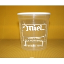 POT PLASTIQUE KG PEP NICOT IMPRESSION MIEL TRANSPARENT