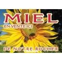 """PANNEAU """"MIEL"""" MODELE ABEILLE/TOURNESOL"""