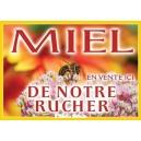 """PANNEAU """"MIEL"""" MODELE ABEILLE/FLEUR BLANCHE"""