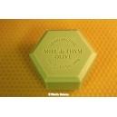 SAVON HEXAGONAL AU MIEL 100 G: HUILE D'OLIVE, PARFUM EGLANTINE