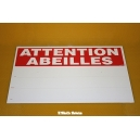"PANCARTE RECTANGULAIRE ""ATTENTION ABEILLES"""
